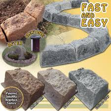 wow super realistic faux rock borders fast and easy stone edging