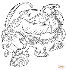 skylanders giants thumpback coloring page free printable