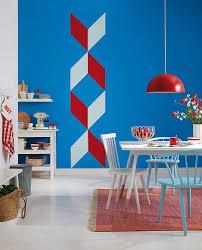 Wohnzimmer Streichen Muster Rautenmuster An Der Wand