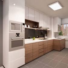 monter sa cuisine une cuisine en blanc et bois design déco décoration