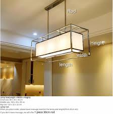 Fabric Pendant Light by Aliexpress Com Buy Stainless Steel Oblong Rectangle Cuboid Long