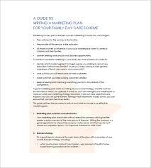 daycare business plan template u2013 12 free word excel pdf format