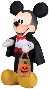 mickey mouse in vampire costume airblown inflatable halloween yard