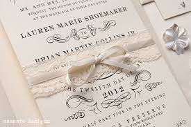 diy vintage lace wedding invitations with ribbon elite wedding looks