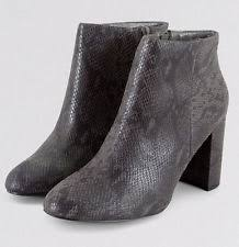 womens ankle boots size 9 wide look zip print boots for ebay
