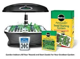 amazon com aerogarden ultra indoor garden with gourmet herb seed