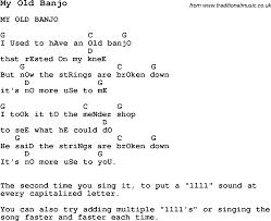 summer c song my banjo with lyrics and chords for ukulele