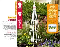 easy garden tower from 3 trellis u0027 from lowe u0027s creative ideas