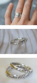 rings with children s names child s name and date of birth on the ring these are def the