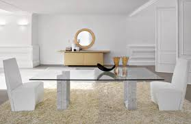 Square Glass Dining Table Dining Room Simple Modern White Square Dining Table Set With