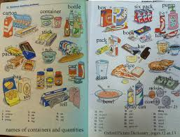 containers for foods english 4 me 2