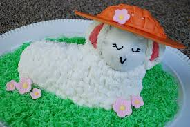 Easter Edible Cake Decorations by Make An Edible Easter Bonnet For A Lamb Cake Merriment Design