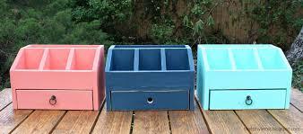 Desk Mail Organizer White Desktop Office Or Vanity Organizer Diy Projects