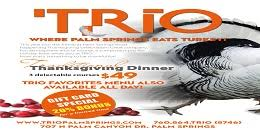 thanksgiving dinner at trio restaurant official palm springs
