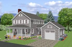 new england connected farmhouse plans