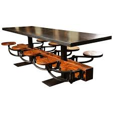 communal table for sale eight seat communal steel top dining table with cast iron attached