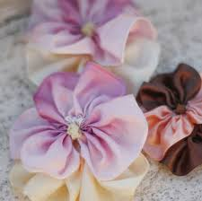 Fabric Flowers How To Make Fabric Flowers And Ribbon Flowers With The Sweet