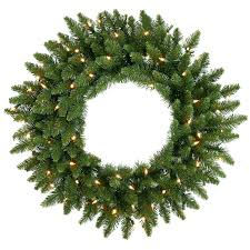 national tree pre lit 24 snowy dunhill fir wreath with 50 clear