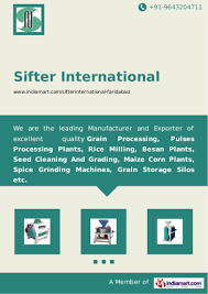 food processing machines manufacturers sifter international