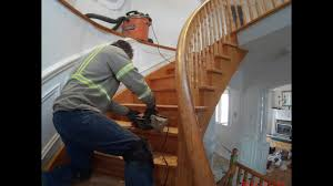 Restaining Banister Stairs And Railings Renovations Refinishing Sanding And Staining