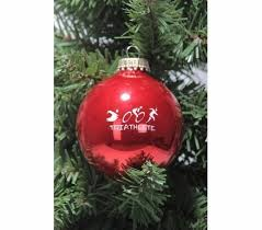 triathlon ornaments decore
