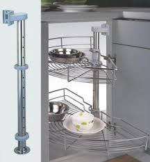 Kitchen Cabinet Plate Organizers 180 Degree Rotating Corner Pantry Kitchen Carousel Cabinet Basket