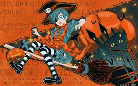 Halloween Witch Wallpaper Desktop Wallpapersafari by Cute Anime Halloween Wallpaper Backgrounds For Anime Halloween