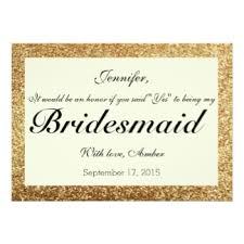 invitation for bridesmaid glitter bridesmaid invitations announcements zazzle