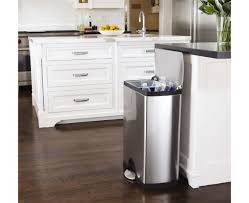 simplehuman in cabinet trash can kitchen dining room white kitchen cabinets with 46l rectangular