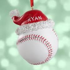 reversible baseball ornament football and baseball