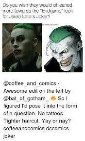 Jared Leto Meme - 25 best memes about jared leto joker jared leto joker memes
