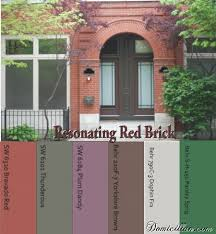 paint color ideas to go with red brick i like the dark brown