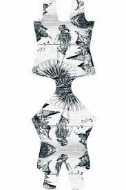 skeleton sketch print scoop neck one piece swimsuit