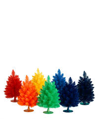 miniature christmas trees rainbow gumdrop mini christmas trees treetopia