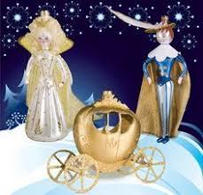 soffieria de carlini 4 pc set cinderella ornament italy