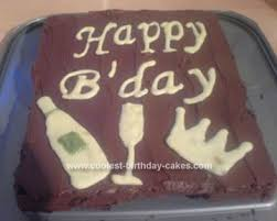 coolest champagne birthday cake