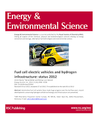 fuel cell electric vehicles and hydrogen infrastructure status