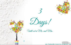 wedding countdown for blowing the dust away the written