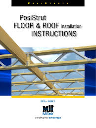 posistrut floor and roof installation instructions truss