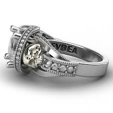 amazon com bamos jewelry womens amazon com cz skull engagement ring for women gothic aphrodite