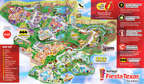 6 Flags Coupons Six Flags Fiesta Texas 2015 Park Map