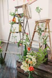 40 chic ways use ladder on rustic country weddings deer