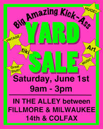 garage sale the year of living fabulously