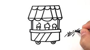 how to draw ice cream car easy drawing ideas for kids online