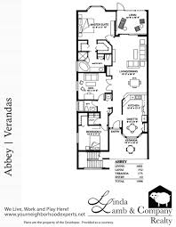 Plantation Floor Plans by Abbey Veranda Floor Plan Heritage Palms Linda Lamb U0026 Company