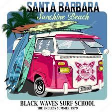 surf car clipart minibus stock vectors royalty free minibus illustrations