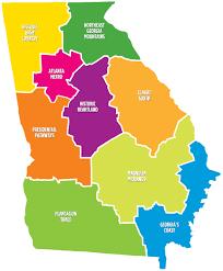 Map Of Atlanta Georgia by Tourism Regions Georgia Department Of Economic Development