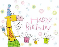 vector cute cartoon happy birthday free vector 4vector