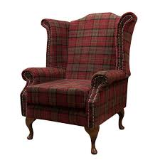 breathtaking plaid wingback chairs 29 on simple design room with