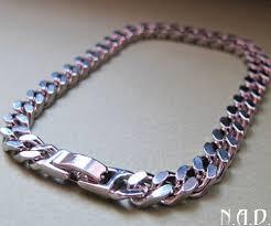 mens silver bracelet chain images Wide silver chain bracelet for men men 39 s jewellery massive jpg